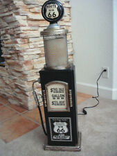 Black Route 66 Gas Pump Cabinet with Light. Mancave. Gameroom.