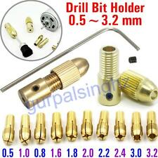 0.5-3.2mm Collet Chuck MultiSize Clamp Set Mini Micro PCB Twist Drill Bit Holder