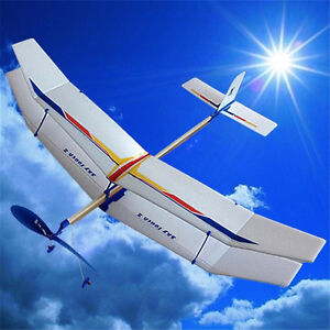 Assembly-Glider-Rubber-Elastic-Powered-Flying-Plane-Fun-Model-Kids-Toy-FE