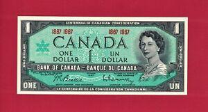 GEM-UNC-CRISP-One-1-DOLLAR-1967-OTTAWA-CANADA-P-84a-Sign-Beattie-Rasminsky