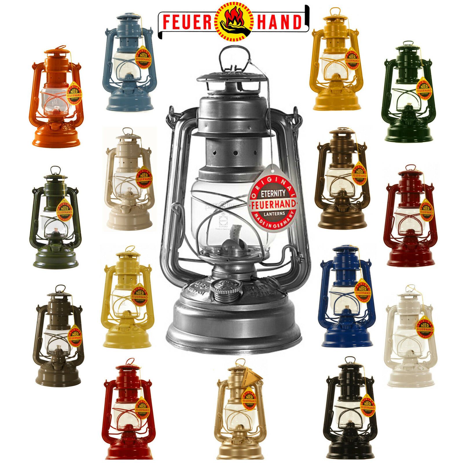 FEUERHAND® Sturmlaterne 276 Petroleumlaterne Petroleumlampe Petroleum Laterne  | Preiszugeständnisse