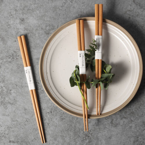 Japanese Classic Solid Wooden Chopsticks Set 5 Pairs Gift Set for Kids Kitchen