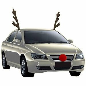 Rudolph Car Costume Kit, Reindeer Antlers and Nose ...