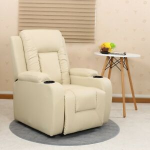 Comfortable Armchair Recliner Sofa Seat Suite Leather