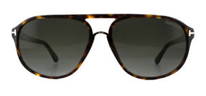 e606f6b4a52 Tom Ford Jacob FT0447 Sunglasses Dark Havana 52B Grey Gradient ...