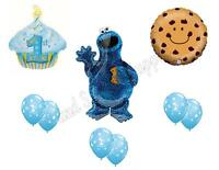 Cookie Monster 1st Birthday Party Balloons Decoration Supplies Sesame Street