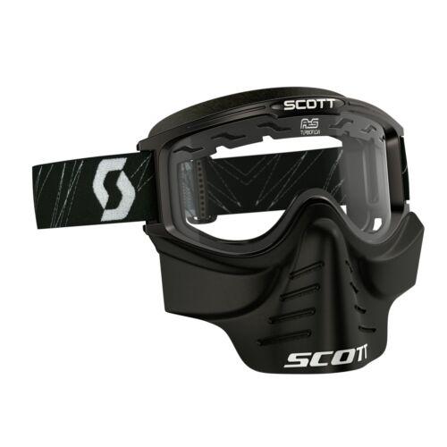 Scott 83x safari Cross MTB//paintball Goggle incl facemaske Lunettes Noir//améliorée