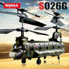 SYMA S026G 3CH RC Army Helicopter Gyro Remote Control Aircraft RC Fighter Plane