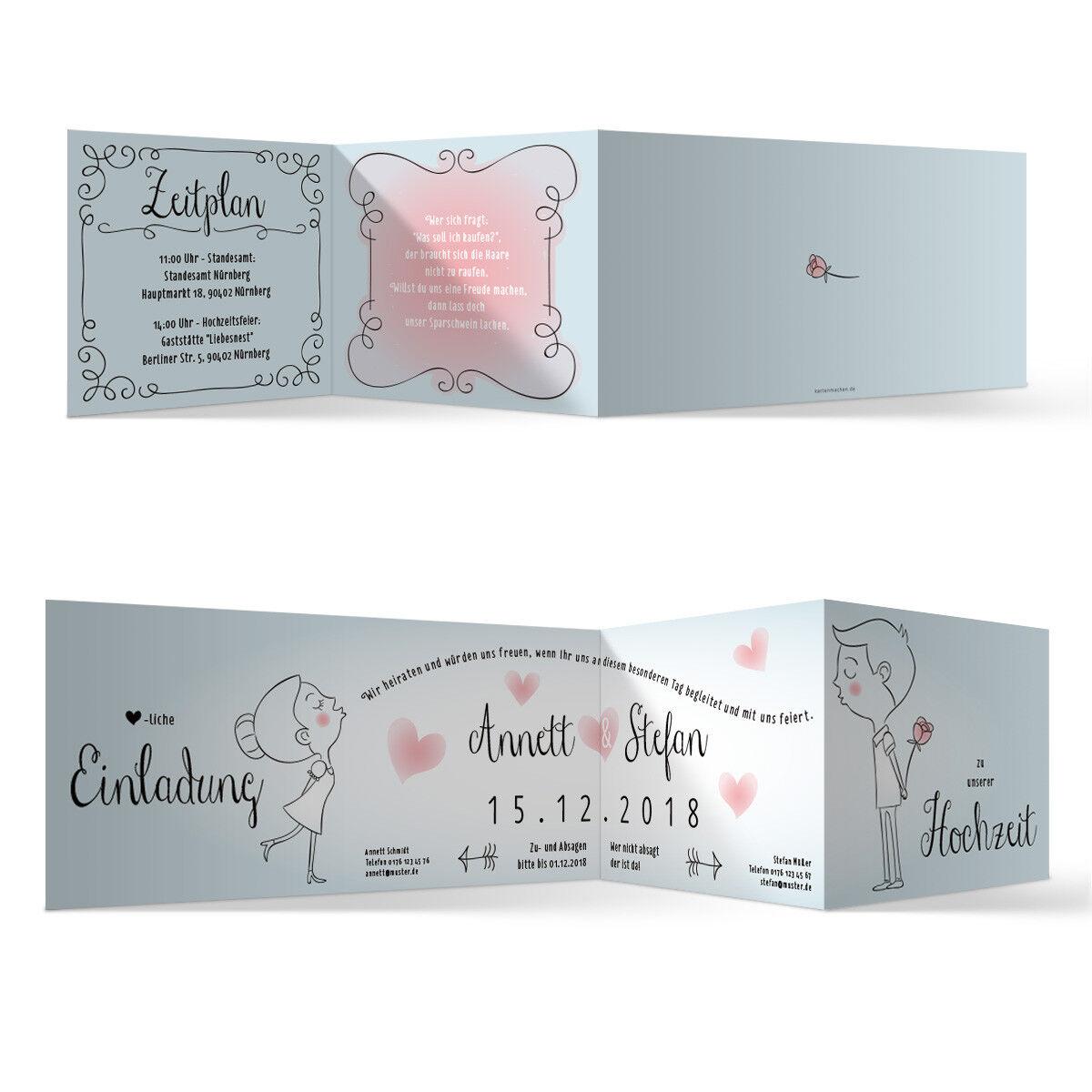 Hochzeit Einladungskarten Hochzeitseinladungen Hochzeitskarten - Küssendes Paar   | Langfristiger Ruf  | Hohe Qualität Und Geringen Overhead