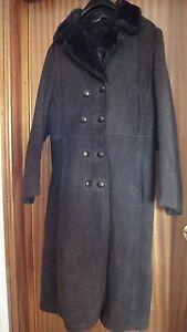donna Cappotto grandezza in 12 marrone naturale a montone di vintage pelle 7q5UrvOAq