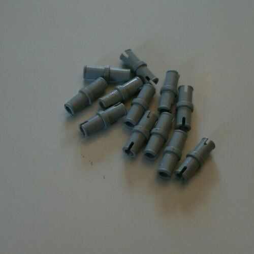12x lego 3673 gray Technic Pin without Friction Ridges Lengthwise