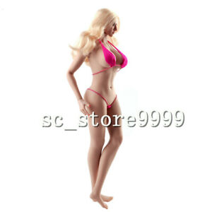1//6 Flexible Female Body Tan Skin Big Bust Action Figure Collectible Doll Toy