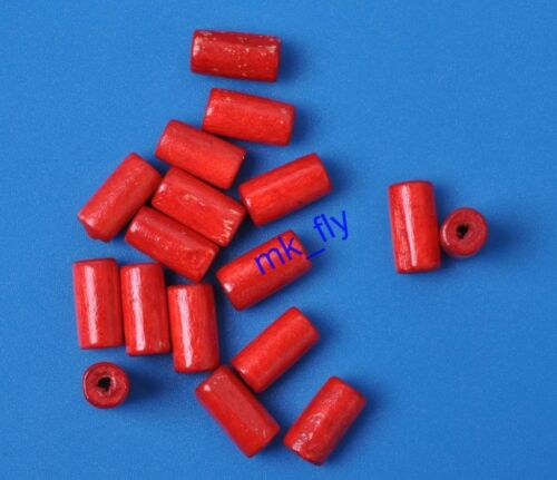 100pcs charm wood TUBE Spacer Beads 12x7mm Jewelry Accessories