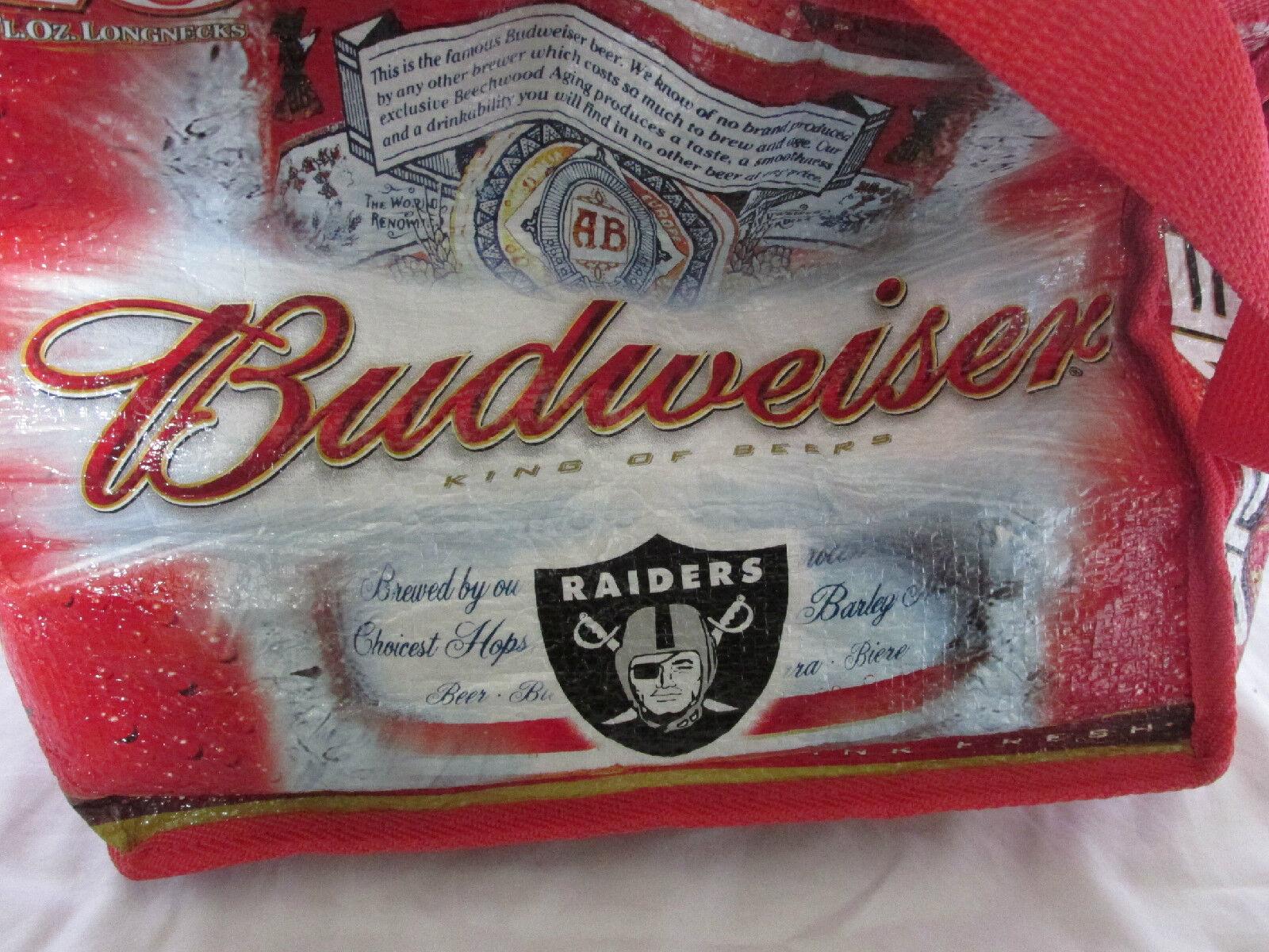 Oakland Raiders Fußball Fußball Fußball Rot Budweiser Isolierte Kühler - Gebraucht Twice 43d8f8