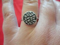 925 Sterling Silver Gothic Ring-size 9