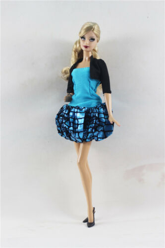 2in1 Fashion Black and Blue Pumpkin dress skirt  Outfit  FOR 11.5in.Doll Clothes
