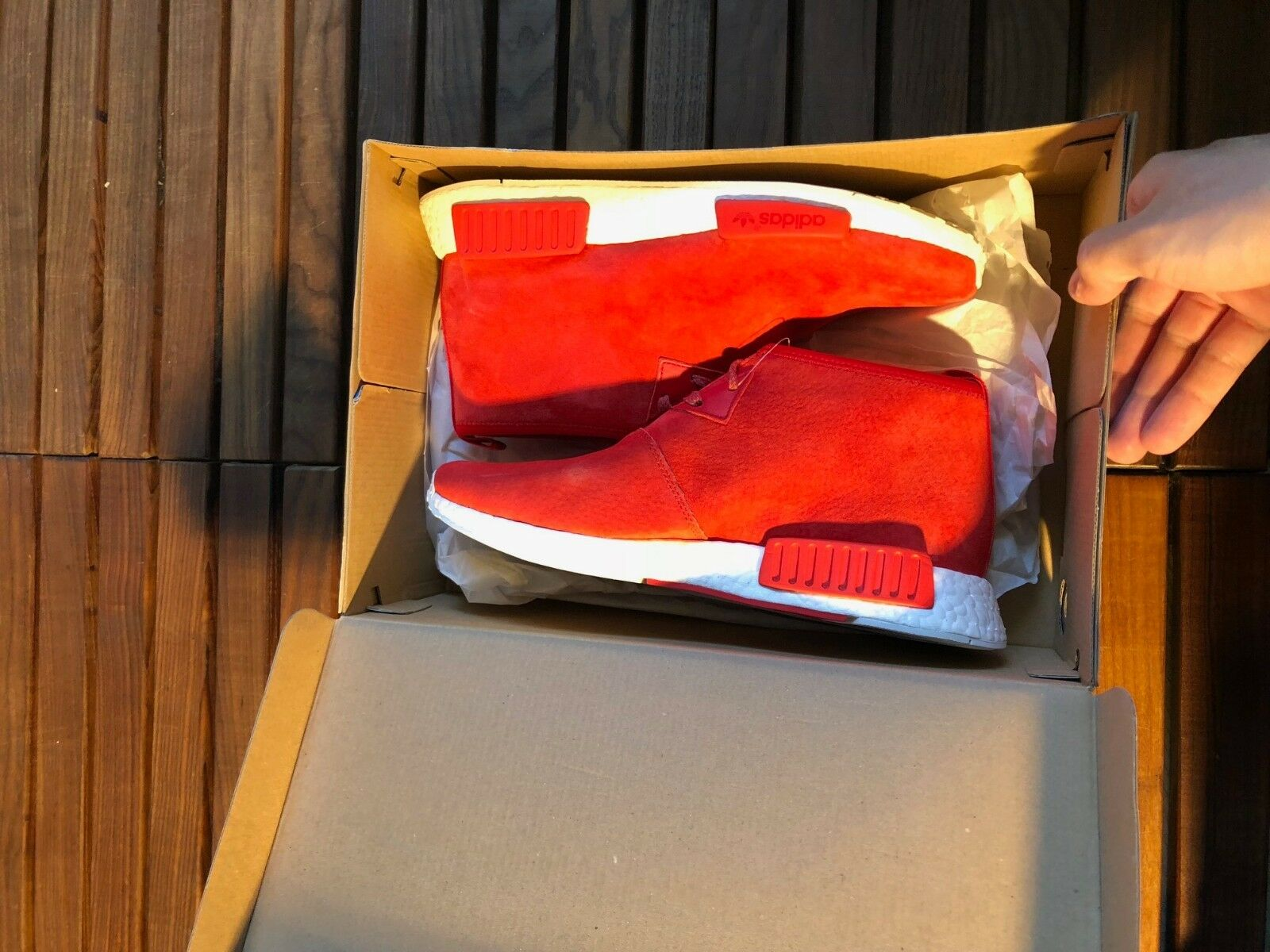 Adidas NMD Chukka Red Sneakers Size 40