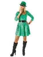 Adult Batman Miss The Riddler Fancy Dress Costume Superhero Comics Ladies BN
