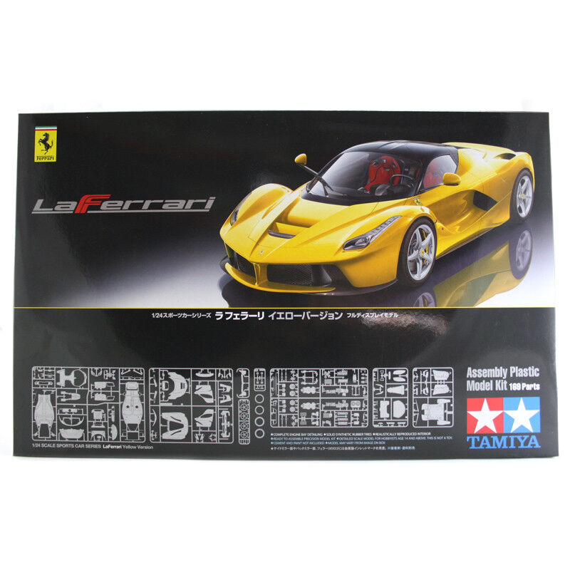 Tamiya LaFerrari (Yellow Version) Car Model Set (Scale 1 24) 24347 NEW