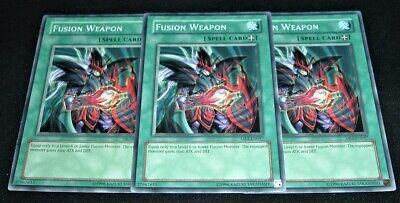 YuGiOh Card 3x Fusion Weapon SOD-EN047
