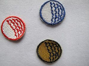 5018-Lot-4Pcs-Red-Blue-Black-Golf-Ball-Embroidery-Iron-On-Applique-Patch