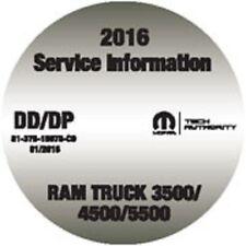 2016 Dodge RAM 3500 4500 5500 Cab Chassis Truck Service Workshop Repair Manual