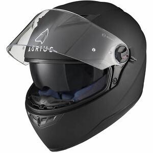 Agrius Rage SV Solid Motorcycle Helmet L Matt Black