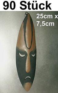 Systematisch 90x Maske Afrika Metall Africa Bild Deko Metallmaske AufhÄngeÖse Sonderposten
