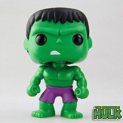"""Hero The Avengers Green Hulk 08 Vinyl Bobble-Head 11cm/4.4"""" PVC Figure No Box"""