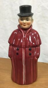 Vintage-Hand-Painted-German-Porcelain-Figure-Man-Liquor-Decanter-Bottle