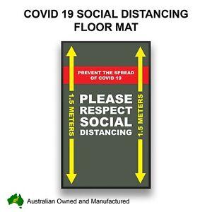 SOCIAL DISTANCING FLOOR MAT 90CM X 150CM