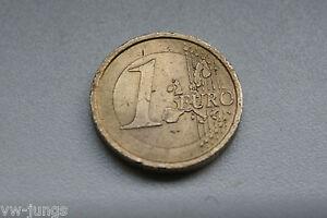 1 Euro Münze R 2002 Italien Fehlprägung Mit 2 Pille Einfarbig