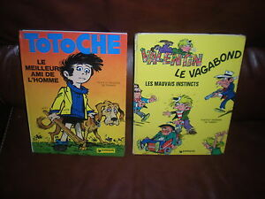 LOT-2-BD-TABARY-TOTOCHE-VALENTIN-LE-VAGABOND-EDITIONS-1974