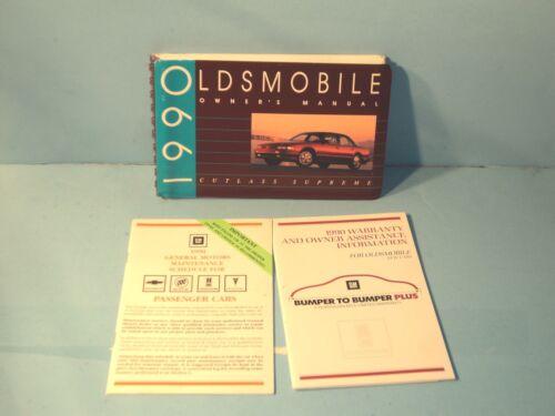 90 1990 Oldsmobile Cutlass Supreme owners manual