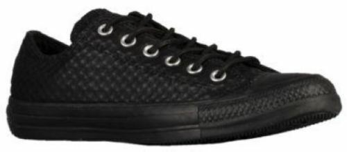 Nib Uomo Star Sneaker Craft Taglie 5 Donna 5 Ox 8 Leather All Nero Converse 6 p6AnrqwBWp