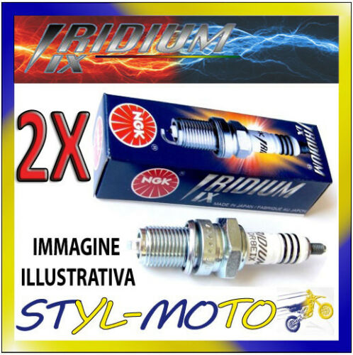 KIT 2 CANDELE NGK IRIDIUM SPARK DCPR8EIX HARLEY DAVIDSON Dyna Wide Glide 2009