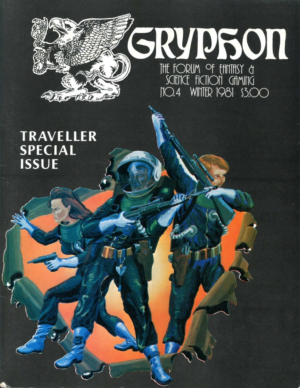 GHYPHON MAGAZINE WINTER 1981 TRAVELLER SPECIAL ISSUE FANTASY RPG EXC+