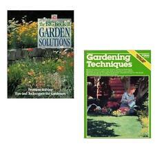 GARDEN SOLUTIONS + GARDENING TECHNIQUES - ORGANIC VEGETABLES  - LOT OF 6 BOOKS!!