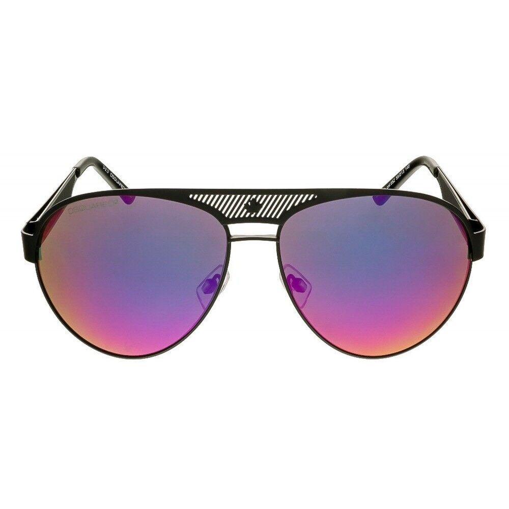 DSQUArot Herren Aviator Sonnenbrille DQ0138S 05Z 05Z 05Z Schwarz   lilat verspiegelt | Viele Stile  292e30