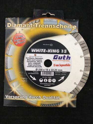 DISC Diamant-Trennscheibe 230x15x22,23 White-King 15 Beton,Ziegel,Klinker.. NEU
