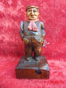 Beautiful, old Wooden Figure, Wood Carved And Painted, Signed, Süd- Tyrol, Nr.5