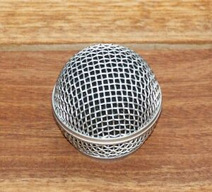 New-Replacement-Grill-for-034-58-034-style-Microphone-Silver