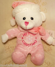 1637693c7 Walmart Baby s First Christmas Teddy Bear Pink Pajamas Plush Baby ...