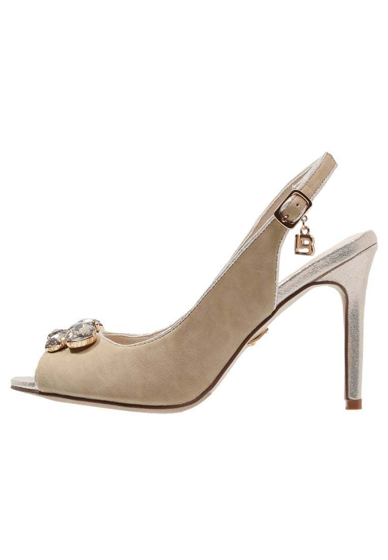 Laura Biagotii Designer Pumps Damen Gr. 40 Peeptoe Sandalen S026 Stiletto Beige S026 Sandalen 419720