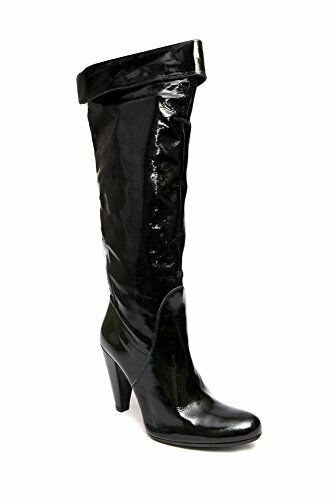Albano  507 Womens Italian Black Patent Leather High Boots