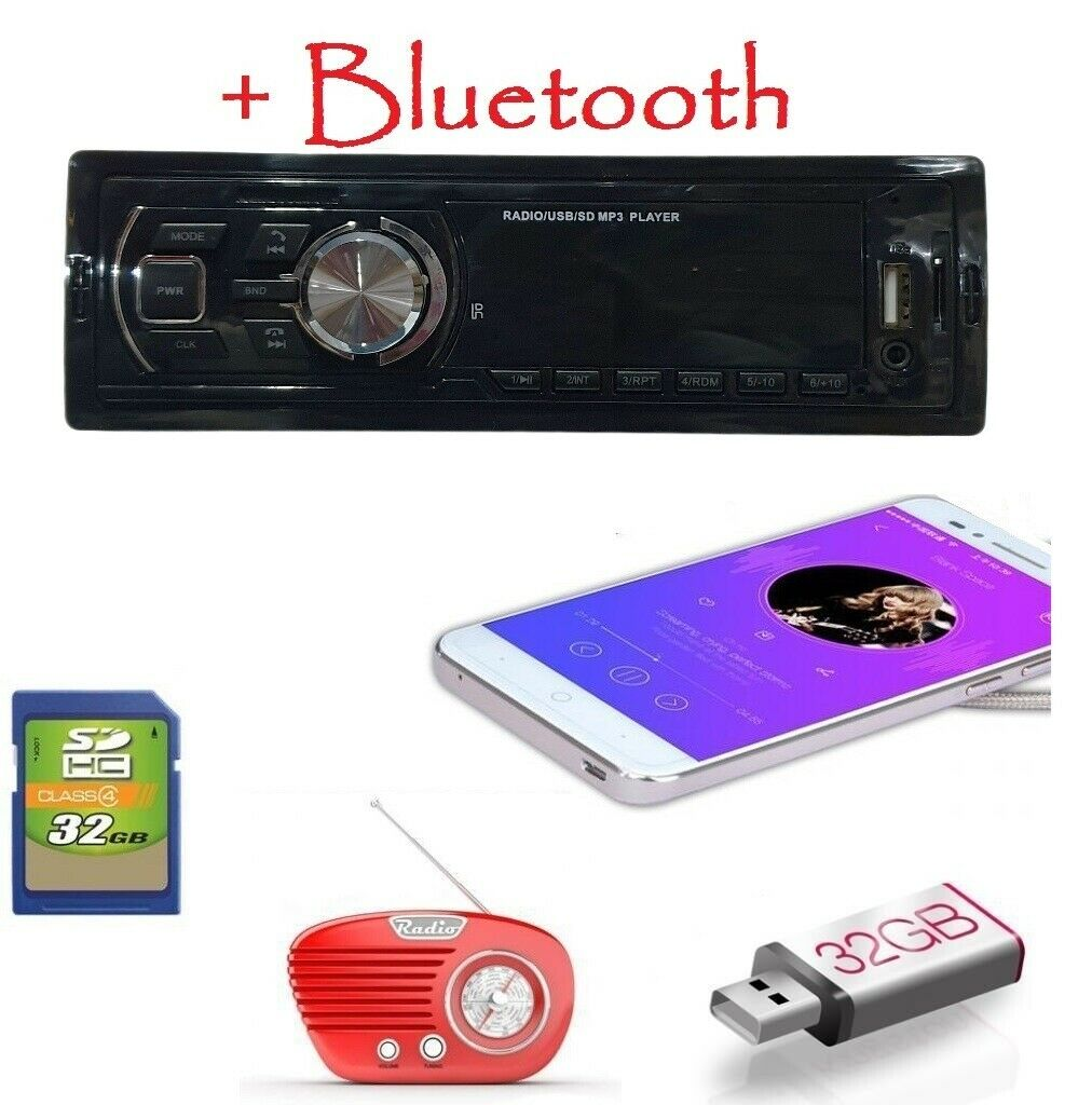 autoradio: AUTORADIO STEREO BLUETOOTH AUTO RADIO  FM MPD USB SD AUX
