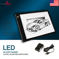 Adjustable A4 Led Stencil Board Tattoo Drawing Tracing Table Light Box Pad 2017
