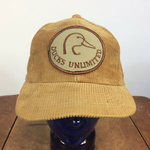 ffbdc3810a5 Image is loading Vintage-Ducks-Unlimited-Hunting-Fishing-Corduroy-Snapback -Trucker-