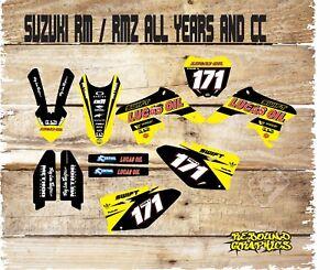 SUZUKI-RM-RMZ-65-85-125-250-450-Motocross-Graphics-Kit-Sticker-Kit-Decals-suzuki