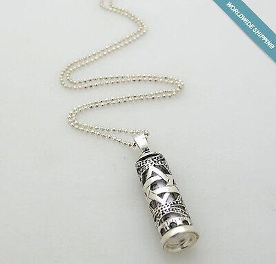 Star Of David Pendant Bar Mitzvah Gift Silver Mezuzah Necklace Jewish Necklace
